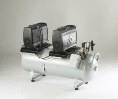 Jun-Air 2xOF1202-150B - Ölfreier Kompressor mit Behälter