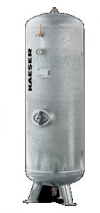 1000 Liter KAESER Druckluftbehälter stehend, verzinkt - 16 bar