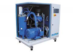 15 kW Schraubenkompressor (1,61 m³/min bei 13 bar) mit Trockner ALMIG Combi 15D