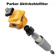 """1/2"""" PARKER Aktivkohlefilter AA (0,01 µm) bis 1,2 m³/min"""
